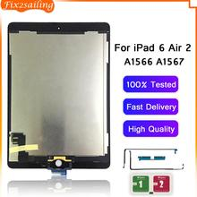 Replacement Digitizer Lcd-Panel A1566 Touch-Screen iPad Assembly Apple for 6-Air-2 Grade