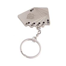 Personalized graduation gifts for teachers and classmates nice poker keychians,car keychains in black red color
