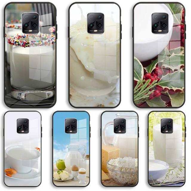 mleko ser Silicone Glass Phone Case For Xiaomi Redmi 9A 8A 7A Note 9 8 7 Pro Y3 9S 8T Balck Cover 1
