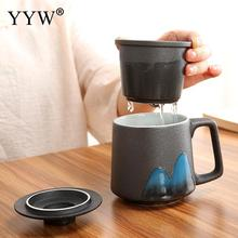 Creative Ceramics Couple Coffee Mug With Lid Large Capacity Water Mugs Drinkware Cups Novelty Gifts Milk Cup