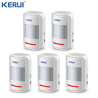 Kerui 5 uds 3 uds recargable 5V USB 433MHz inalámbrico PIR Sensor Detector de movimiento GSM PSTN sistema de alarma de seguridad