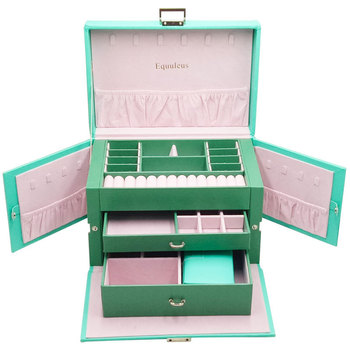 New Large Leather Jewelry Box Gift Box
