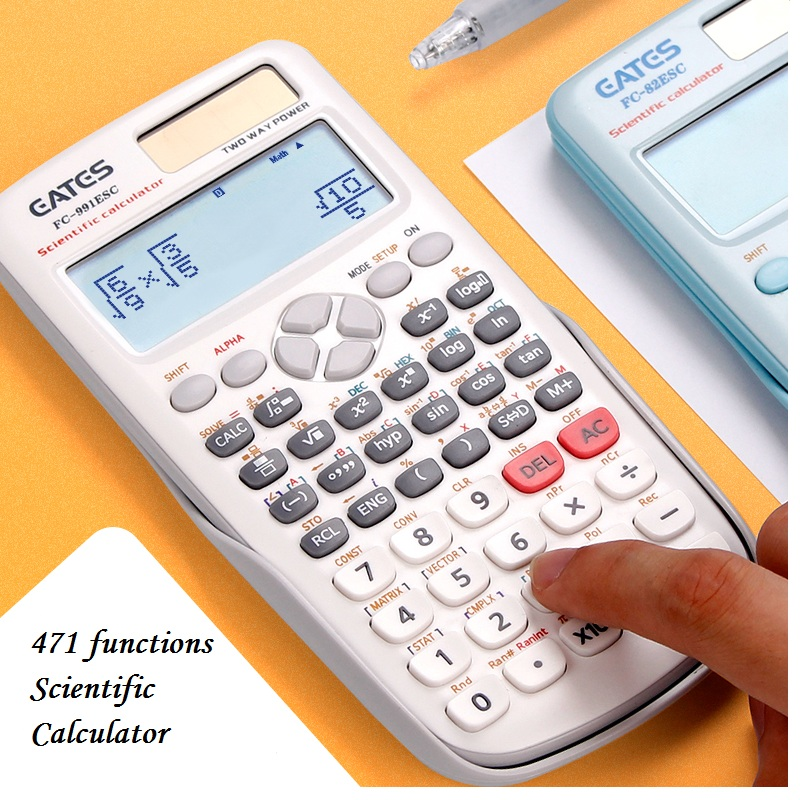 Brand New  FX-991ES-C  Original Scientific Calculator  471 Functions  For School Office Two Ways Power Solar And Battery