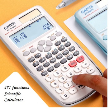 New FX-991ES-C Original Scientific Calculator 471 Functions For School Office Two Ways Power Solar And Battery