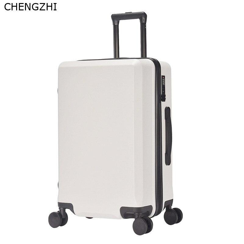 Nouvelle mode 20/24 pouces valise d'embarquement chariot ABS + PC coloré voyage étanche bagages Set valise à roulettes Spinner boîte - 3
