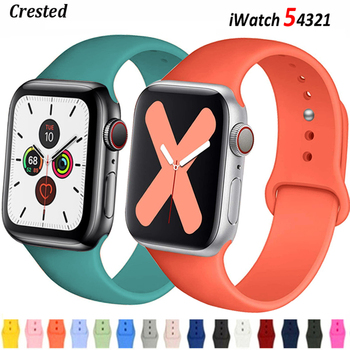Silicone Strap For Apple Watch band 44mm 40mm 38mm 42mm Rubber belt correa wristband Sport bracelet iWatch serie 3 4 5 se 6 band