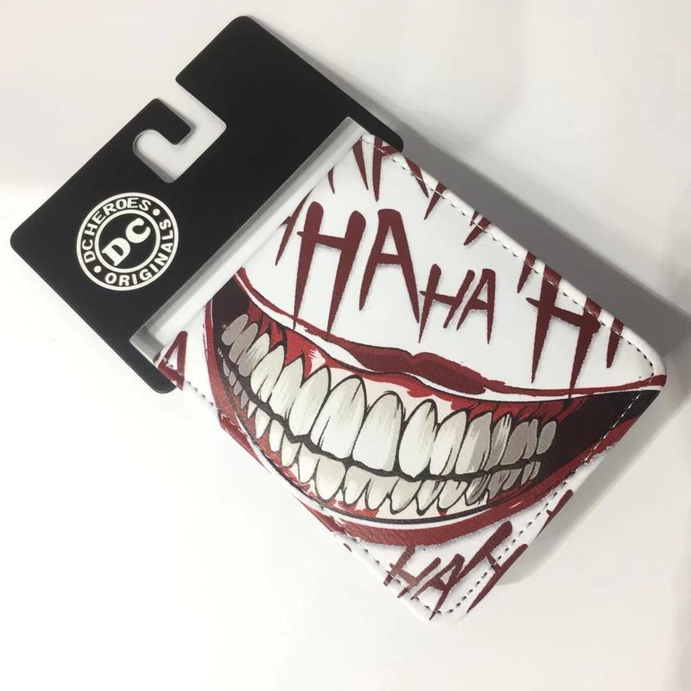 New The Joker HAHA Wallet Color Print Kids Teenager Cartoon Coin Purse Holder Card Gift