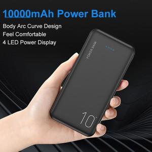 Image 2 - Floveme uniwersalny ładujący Powerbank 10000/20000mAh Power Bank dla Xiao mi mi 9 8 wysokiej jakości dwa porty usb Battery Powerbank