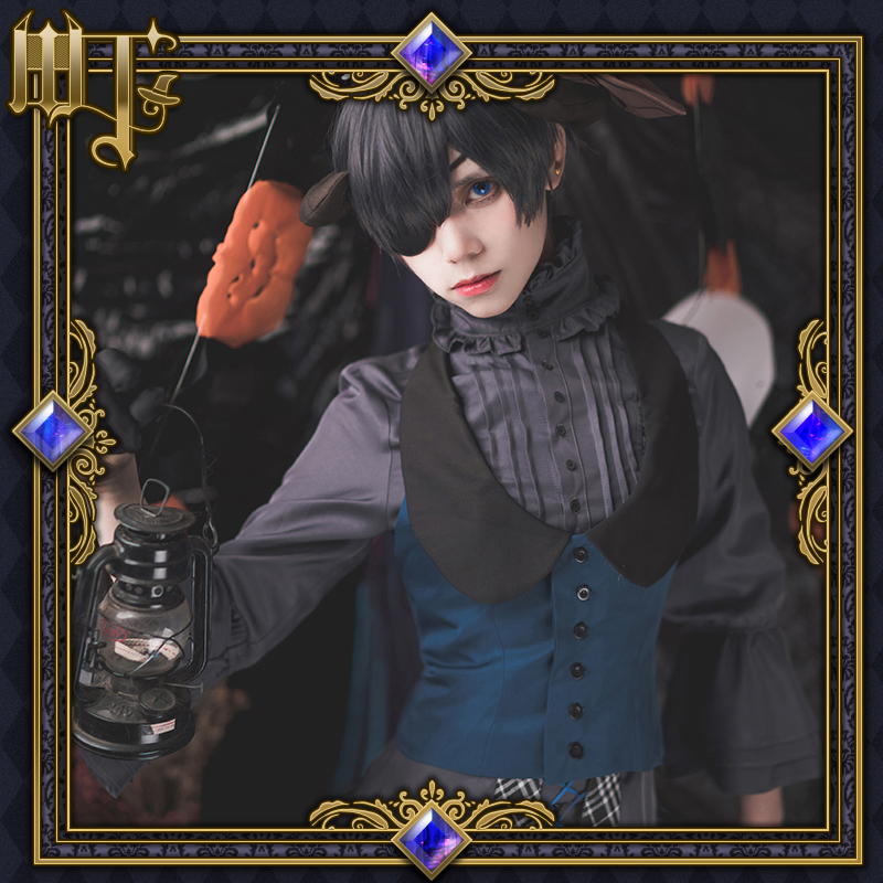 New Anime Black Butler Cosplay Costumes Kuroshitsuji Ciel Phantomhive Men Women Role Playing Dress Party Masquerade Full Suit