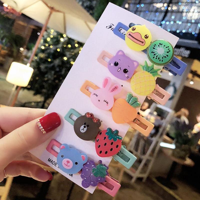 2020 New Creative Hair Accessories For Kids Fruit Hairpins Cute Animals Hairgrips Cartoon Hair Clip Ornament Headdress For Girls