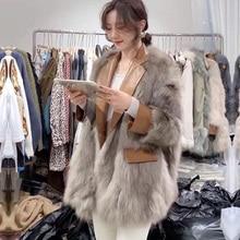 Grass-Coat Coat-Season Fur Fox-Fur Integration Fashion Women New Autumn Haining Youth