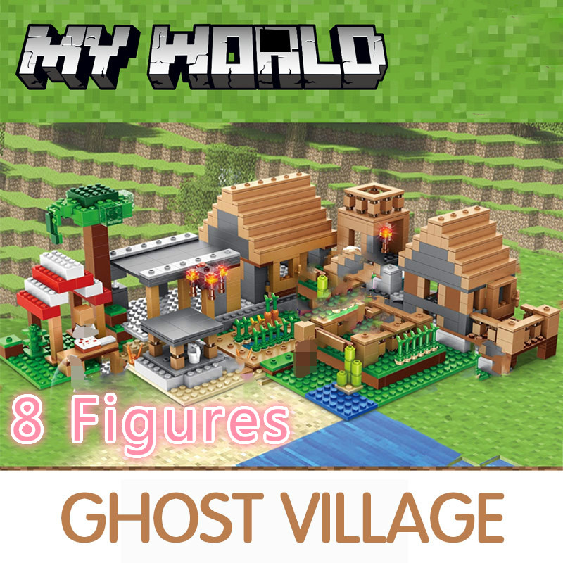 838pcs Castle Village Series My World Ghost Village Building Blocks Compatible Legoed Bricks Toys For Children Christmas Gifts