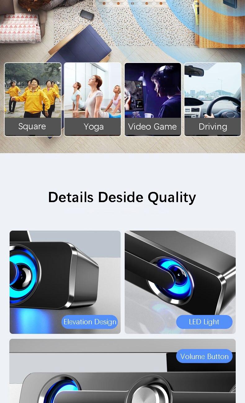 3D Stereo Surround Sound Soundbar