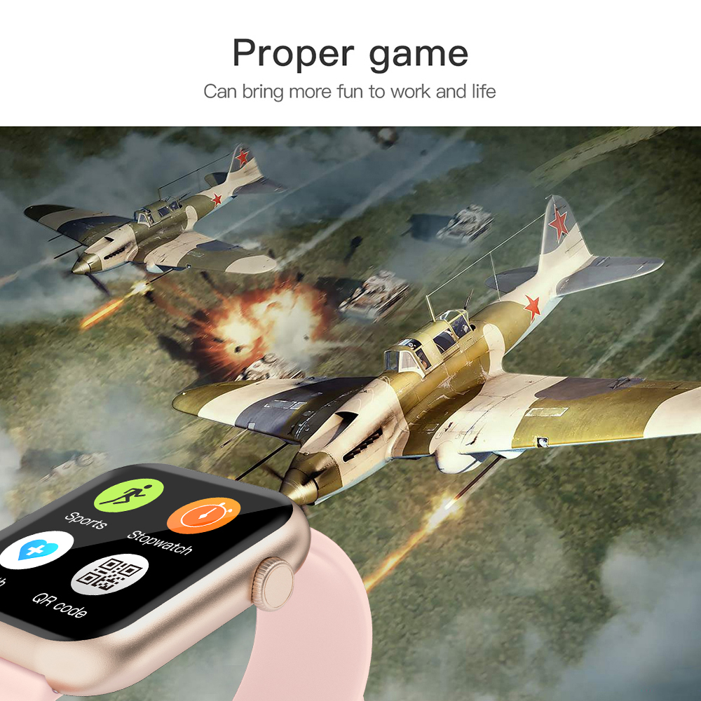 Colmi P9 Smart Horloge Mannen Vrouw Volledige Smartwatch Ingebouwde Game IP67 Waterdicht Hartslag Sleep Monitor Voor Ios android Telefoon 2