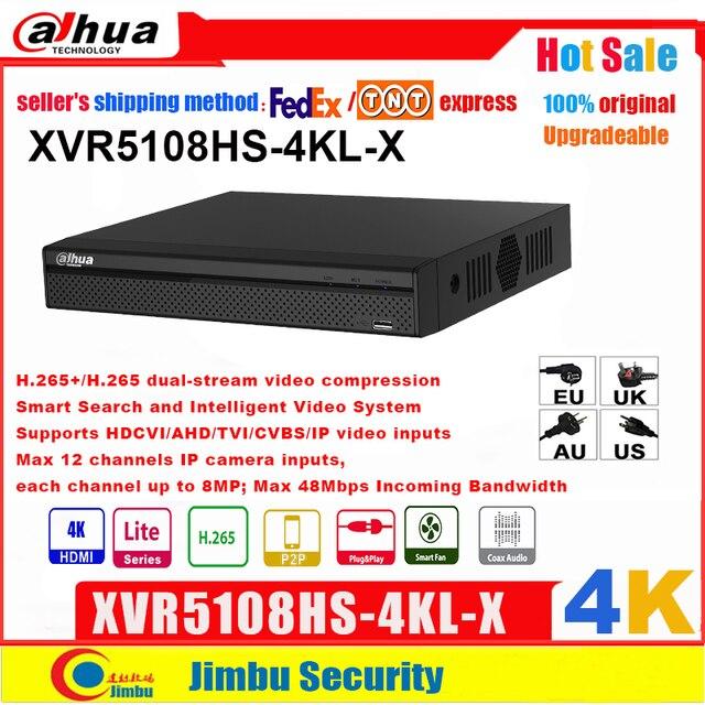 Dahua XVR5108HS 4KL X XVR 4K H.265/H.264, búsqueda inteligente hasta 5MP, compatible con HDCVI/AHD/TVI/CVBS/entradas de vídeo IP, PSP DVR