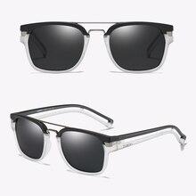 Dubery marka Vintage okulary przeciwsłoneczne dla mężczyzn spolaryzowane lato Retro owalne okulary óculos czarna moda pusta ramka okulary przeciwsłoneczne