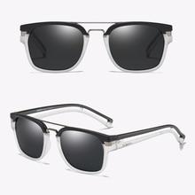 Dubery marka Vintage polarize güneş gözlüğü yaz Retro Oval gözlük Oculos siyah moda içi boş çerçeve güneş gözlüğü