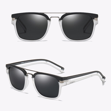 Marca Dubery, gafas de sol clásicas polarizadas para hombre, gafas ovaladas Retro de verano, gafas de sol con montura hueca de moda negra