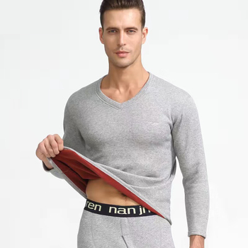 Clothe and Pants Winter Man Velvet Underwear Sets Men Thermo Underwear Long  Winter Clothes Men Thick Thermal Clothing Solid 10