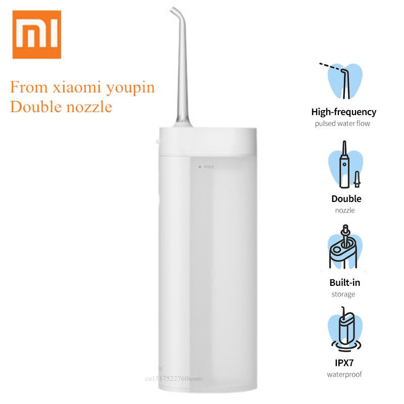 Zhibai XL1 Portable Oral Irrigator Wireless USB Rechargeable Waterproof Water Dental Flosser Cordless Toothpick From Youpin