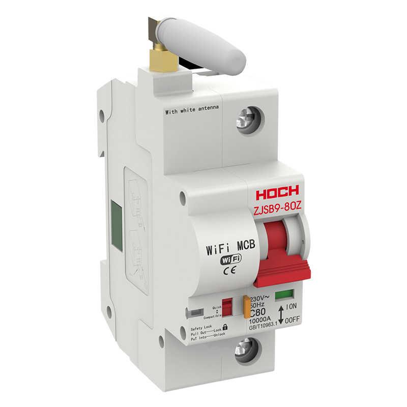 Interruptor de circuito WIFI HOCH 1P Control remoto de fábrica inalámbrico Ewelink Tuya inteligente interruptor de monitoreo automático de energía