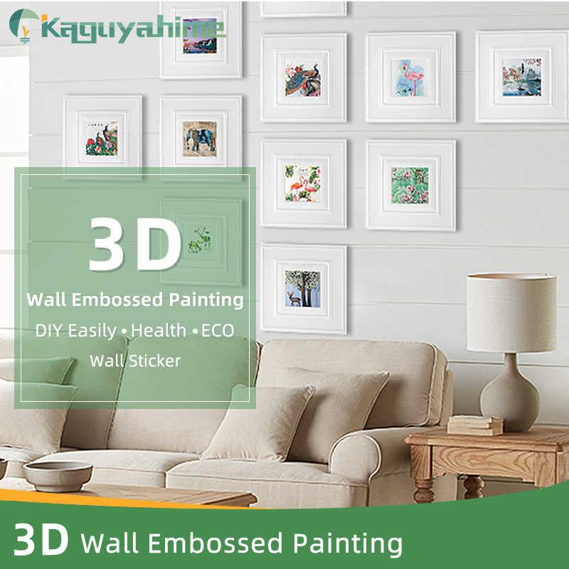 Kaguyahime decoración pintura papel pintado autoadhesivo impermeable pared pegatinas colgante póster DIY decoración para el hogar pintura en relieve