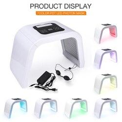 7 cores led pdt luz cuidados com a pele beleza máquina led máscara facial pdt terapia para rejuvenescimento da pele acne removedor anti-rugas