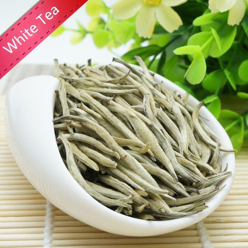 Di alta Qualità Biologica Bai Hao Yin Zhen Tè Bianco Bai Hao Argento Needle Tè Bianco Cibo Cinese Ago D'argento del Tè verde Cibo