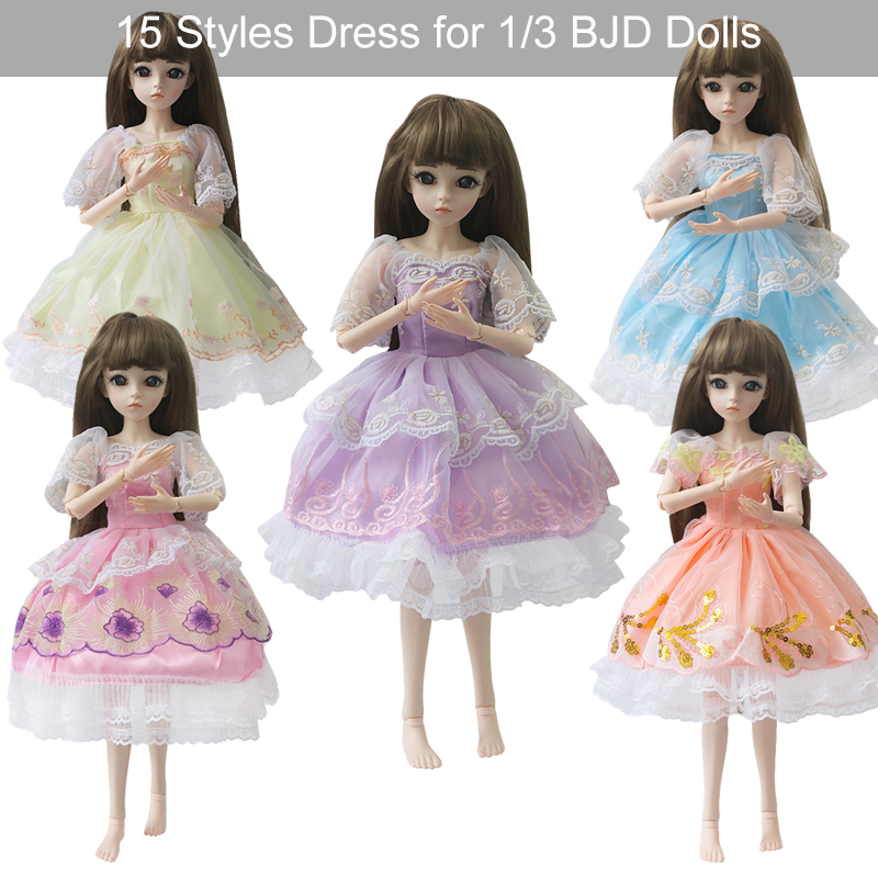 UCanaan <font><b>BJD</b></font> Accessories Dolls <font><b>Clothes</b></font> Gilrs Princess Dress Suit Outfits For 60CM <font><b>1/3</b></font> <font><b>BJD</b></font> SD Dolls image