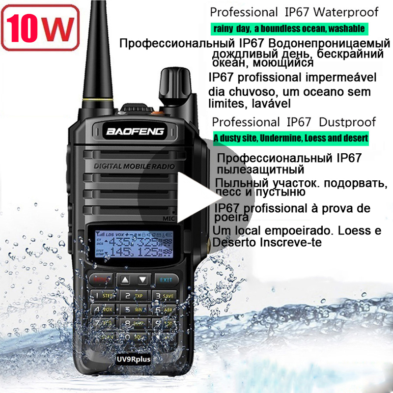 Baofeng UV-9R UV 9R UV9R Plus Powerful Waterproof Baofeng Walkie Talkie Ham VHF UHF Radio Station IP67 Transceiver Boafeng 10 W