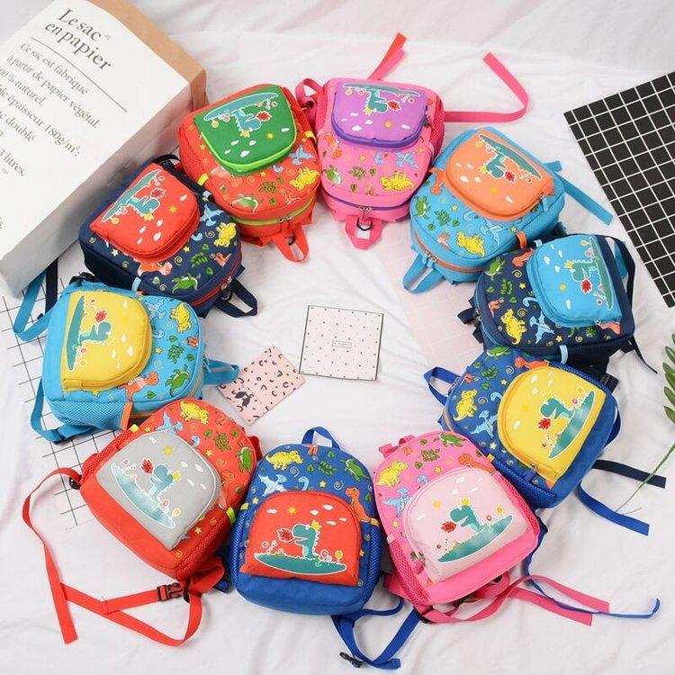 Kindergarten School Bag Korean-style CHILDREN'S Rucksack Cartoon Cute Little Dinosaur Anti Lost CHILDREN'S School Bags Backpack