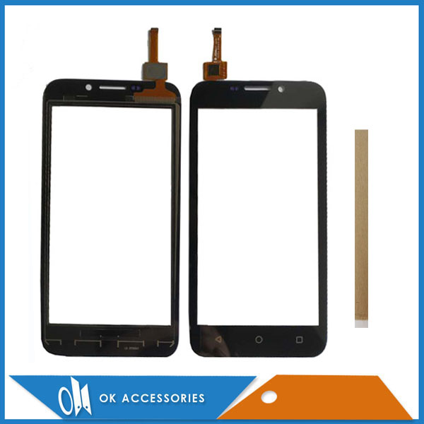 4.5 Inch For Micromax Q379 Touch Glass Touch Screen Sensor Panel Digitizer Black Color With Tape