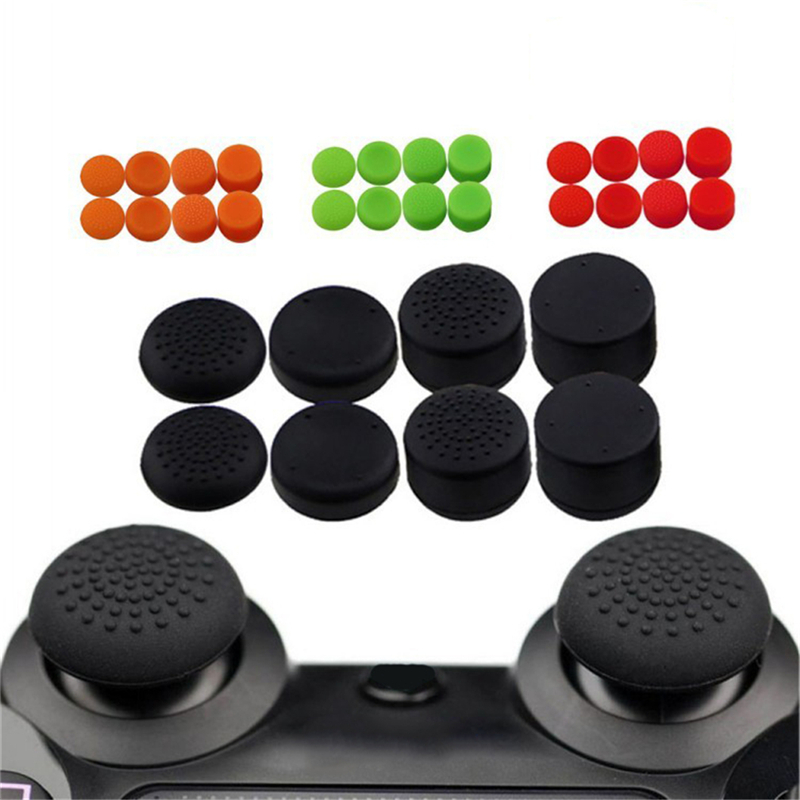 8Pcs Silicone Controller Joystick Thumb Stick Grip Cap Case Cover for PlayStation 4 PS4 PS3 PS2 PS 4 PS 3 PS 2 Xbox
