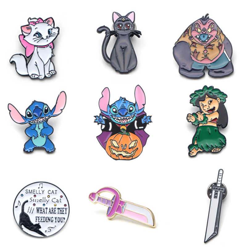 V131 Kat Vrienden Tv Metal Enamel Pins En Broches Fashion Revers Pin Rugzak Zakken Badge Collectie Geschenken 1Pcs