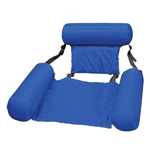 Rede de Rede de Cinto Inflável Dobrável Duplo-uso Encosto Flutuante Fileira Água Jogar Lounge Cadeira Cama Sofá Mod. 233153
