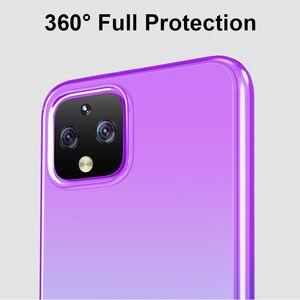 Image 3 - Caso de telefone de cor gradiente para google pixel 4 4xl 3a xl coque tpu macio silicone volta capa para google pixel 3a 3axl