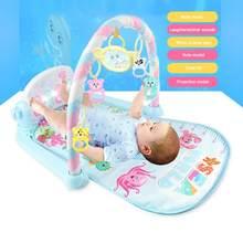 Tapis de jeu bébé support éducatif jouets musique jouer tapis ramper activité développer des jouets avec Piano clavier cadeau éducatif