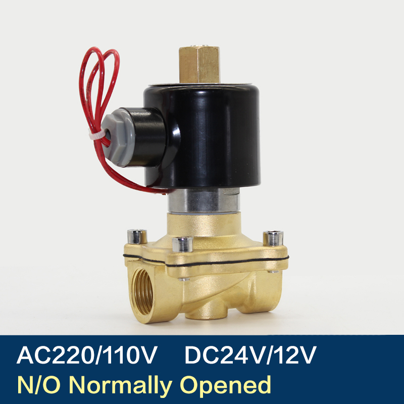 "Electric Solenoid Valve 1/4"" 3/8"" 1/2"" 3/4"" 1"" DN8/10/15/20/25/50 Normally Opened Pneumatic for Water Oil Air 12V/24V/220V/110V"