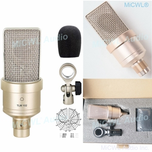 Nuevo TLM-102 micrófono condensador para estudio de diafragma grande para grabación de red, PC, micrófono cardioide para escenario, no Neumann