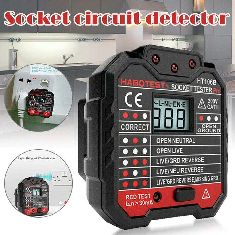 Electric Socket Tester EU / US / UK Plug Neutral Earth Electric Test Leakage Wire Plug Polarity Wall Breaker Circuit P8I9