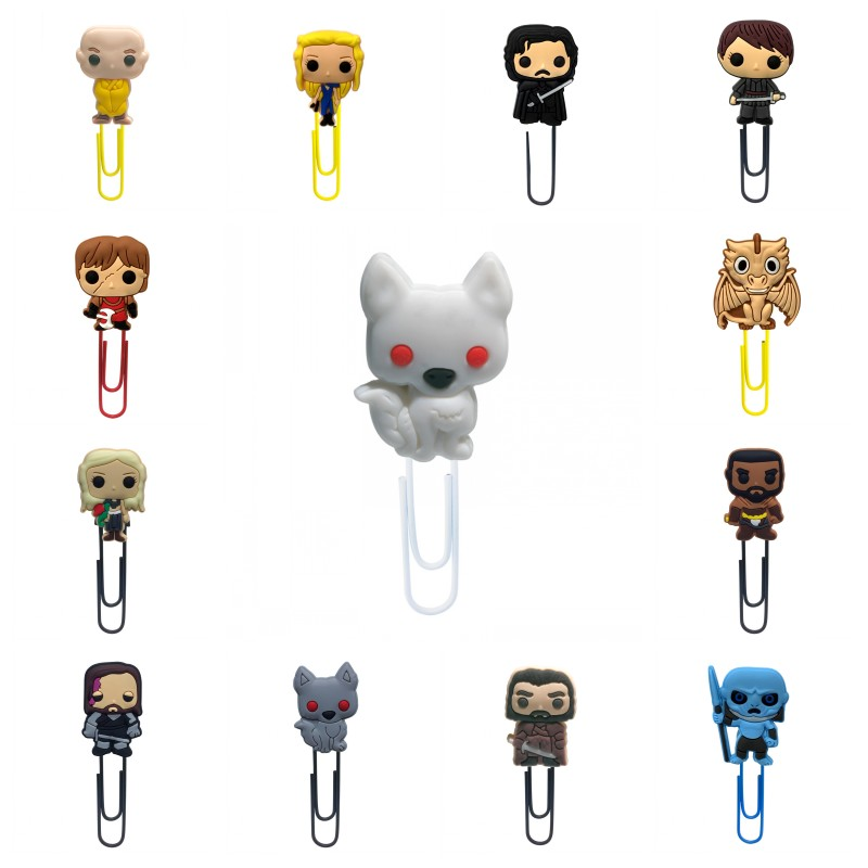 1pcs Game Of Thrones Bookmarks For Books Hot Mini Figures Book Mark Paper Clips For School Teacher Office Supply Birthday Gift