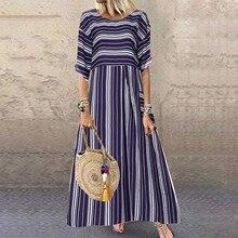 Summer Dress Short-Sleeve Vestido Boho-Style Long Plus-Size Beach Women Ladies Print