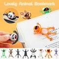 3D стерео кавайная мультяшная Закладка в виде милых животных, мягкая Закладка, подарок для учеников, школьные принадлежности, закладки для к...