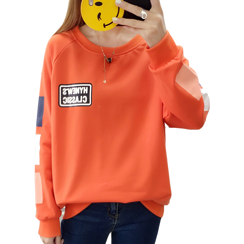 Zuolunouba Autumn New Large Size Ladies Pullover Spring And Autumn Thin Section Loose Outer Wear Long Sleeve Round Neck Shirt