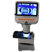 Adjust 500x-1500x Digital Microscope Electronic Video 4.3 Inch HD LCD Soldering Microscope Phone Repair Magnifier + Metal Stand