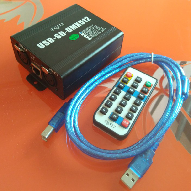 <font><b>USB</b></font> to <font><b>DMX512</b></font> Dimmer 1024 Controller SD card recording offline Playback DMX to RS232/485 Central Dimmer image