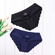 High Quality Women #8217 s Seamless Panties Solid Ultra-thin Panties Underwear Women #8217 s Sexy low-Rise Ruffles Briefs Lingerie New cheap ECMLN CN(Origin) Polyester Spandex Cotton NONE E-A407-C Mid-Rise Cotton Polyester Spandex