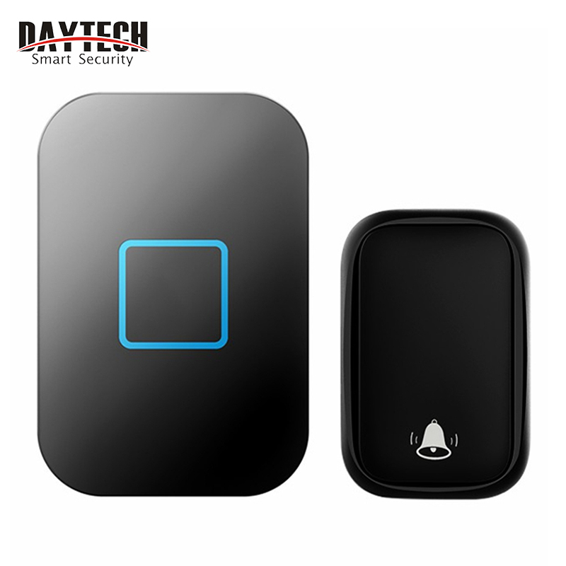 DAYTECH  Wireless Doorbell , No Batteries Required For Receiver 60 Chimes, Black White