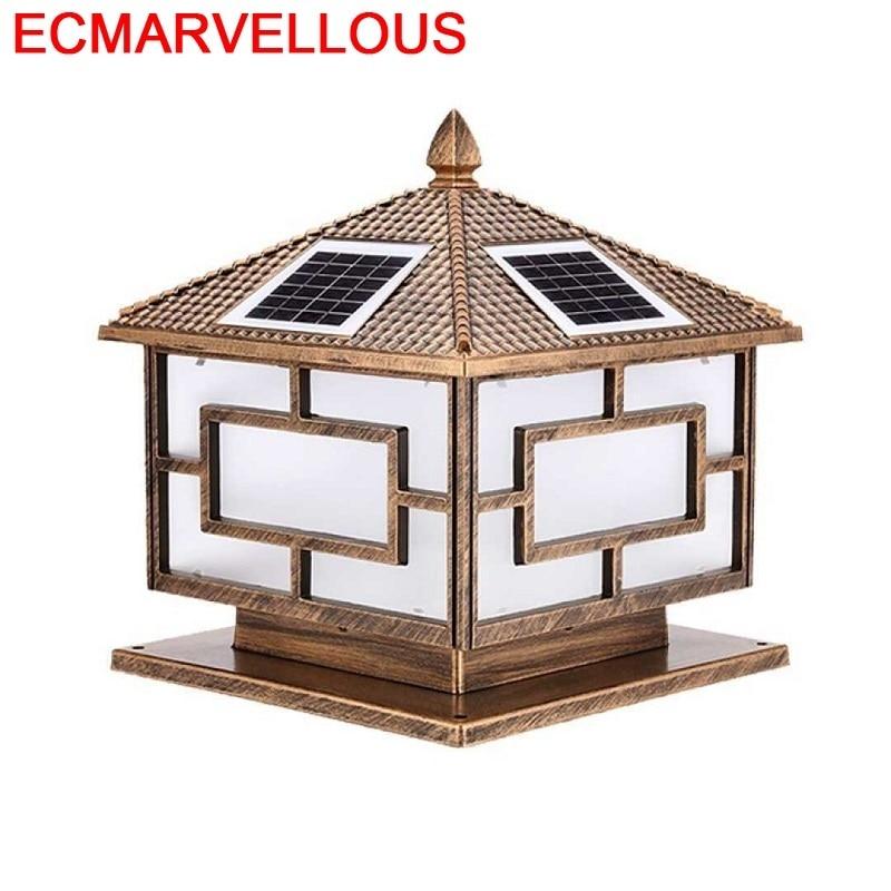 Lampe Ogrodowe Luminaire pilier Deco Noel Sapin Kerst Huisjes LED spot solaire Luminaire Exterieur eclairage paysage extérieur
