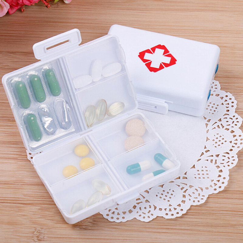 Pill Tablet Cutter Dose Divided Storage Box Case Medicine Pill Holder Splitter Divider Pill Case Box Container
